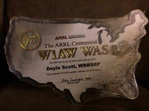 W1AW ARRL Centennial WAS  Worked All 50 States